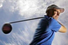 piłki golfowa golfisty strzelanina Zdjęcia Stock