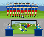 Piłki nożnej drużyny 2 płascy sztandary ustawiający Zdjęcia Stock