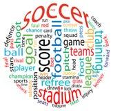 piłki nożnej obłoczny słowo Fotografia Stock