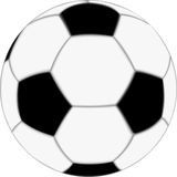 Piłki nożnej piłka Obrazy Royalty Free