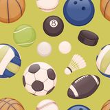 Piłki tło Zdjęcia Stock