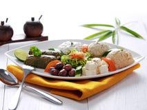 Pikilia vegetariano greco del preparato dell'alimento immagini stock