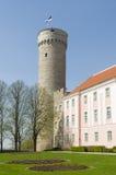 Pikk Hermann and Toompea Castle. Pikk Hermann or Tall Hermann (German: Langer Hermann) is a tower of the Toompea Castle, on Toompea hill in Tallinn, the capital Stock Photography
