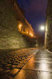 Pikk Jalg (Long Leg) street, Tallinn, Estonia. Long exposure night view Royalty Free Stock Photography