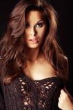 piękną brunetki ciemna dziewczyna seksowna Obrazy Stock