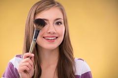 Piękna brown z włosami dziewczyna Obrazy Stock
