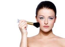 piękna brunetki portreta kobieta Zdjęcie Stock