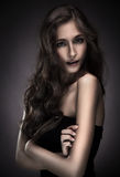 piękna brunetki portreta kobieta Obraz Royalty Free