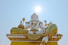 Piękna duża biała statua brahma w wacie Saman Rattanaram Zdjęcia Royalty Free