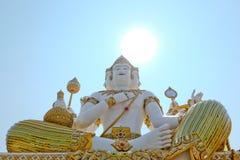 Piękna duża biała statua brahma w wacie Saman Rattanaram Fotografia Stock