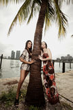 piękna dwa kobiety Zdjęcia Stock
