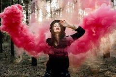 Piękna dymna czarodziejka Obrazy Stock