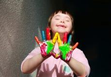 piękna dziewczyna szczęśliwa Obraz Stock
