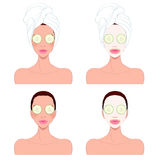 Piękna kobiety ` s skóry opieka Zdjęcia Stock