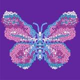 Piękna, lekka, powiewna motylia mozaika, Modny ornamentacyjny wzór Zdjęcie Stock