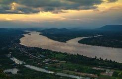 Piękna Mekong rzeka Zdjęcia Stock