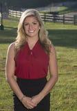 Piękna młoda biznesowa kobieta na gospodarstwie rolnym Obrazy Stock
