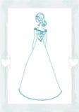 Piękna panna młoda - doodle ilustracja Zdjęcie Stock