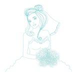 Piękna panna młoda - doodle ilustracja Fotografia Stock