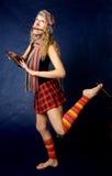 piękna pędzel farby portret kobiety Fotografia Stock