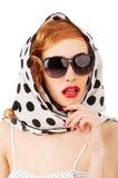 Piękna pinup kobieta Obraz Royalty Free