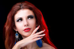 Piękna portret mody kobieta Obrazy Royalty Free