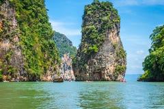 Piękna sceneria Phang Nga park narodowy w Tajlandia Obrazy Stock