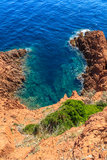 Piękna Sceniczna linia brzegowa na Francuskim Riviera blisko Cannes Fotografia Royalty Free