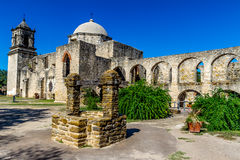Piękna Stara Teksas Hiszpańska misja, San Jose. Zdjęcie Royalty Free