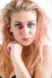 piękna uroda makijaż oczu charakteru naturalnej portret kobiety Zdjęcie Stock