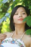 piękne azjatykci młodą kobietą Obrazy Royalty Free