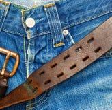 piękne niebieskie jeansy tło Fotografia Royalty Free