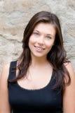 pięknego czarny portreta nastoletni wierzchołek Zdjęcie Royalty Free