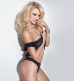 pięknej bielizny seksowna kobieta Zdjęcia Stock