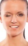pięknej ciemnej dziewczyny z włosami portret Fotografia Royalty Free