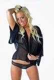 piękni blondyny odizolowywająca uśmiechnięta kobieta Obraz Stock