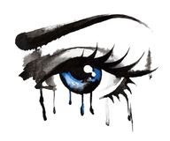 Piękni oczy, pociągany ręcznie Obrazy Stock