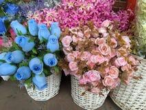 Piękni sztuczni kwiaty Zdjęcie Stock