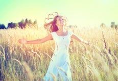 Piękno dziewczyna Outdoors Zdjęcie Stock