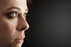 Piękno dziewczyny płacz Obrazy Stock
