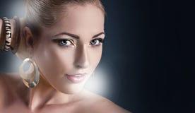 piękno twarz robi ładny up Obraz Royalty Free