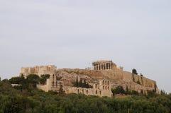 Piękny akropol w Ateny, Grecja Zdjęcie Royalty Free