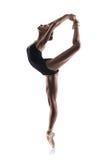 Piękny baletniczy tancerz odizolowywający Zdjęcia Royalty Free