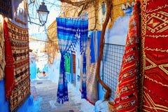 Piękny błękitny Medina Chefchaouen, Maroko Zdjęcia Stock