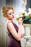 Piękny, blondynki kobieta Obrazy Stock