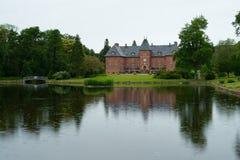 piękny duży Denmark nieruchomości domu dwór Zdjęcia Stock