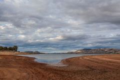 Piękny Hume jezioro wśród Wiktoriańskich wsi wzgórzy Zdjęcie Stock