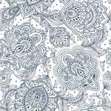 Piękny Indiański kwiecisty Paisley ornamentu bezszwowy druk ethnic Obraz Royalty Free