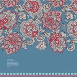 Piękny Indiański kwiecisty Paisley ornamentu druk Zdjęcia Stock