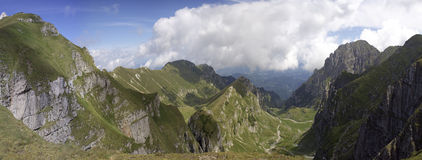 piękny jeden część wierzchołka doliny widok Obrazy Stock